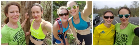 I still run - and get quality miles. I have have a really fun time taking running selfies with my friends.
