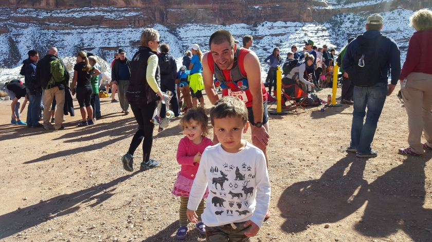 Jesse, Paavo and Mischa in Moab at Red Hot 55k. We drove from WI to CA in February and explored awesome races and trails along the way. Including the kids in these adventures is the best part.